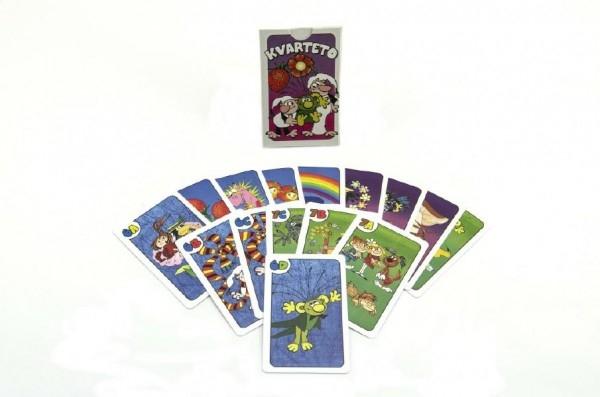 Kvarteto Pojď s námi do pohádky společenská hra - karty v papírové krabičce 6x9x1,5cm