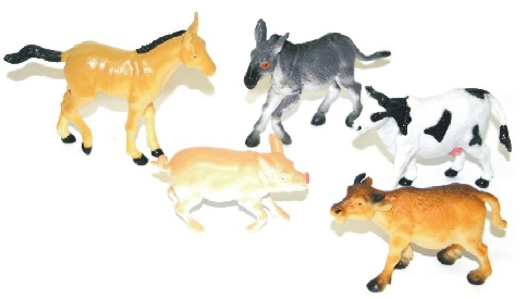 Zvířata domácí I., 5 ks v sáčku