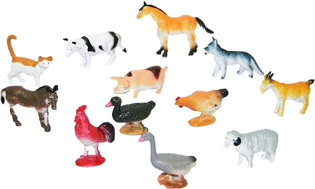 Zvířata domácí, 12 ks v sáčku