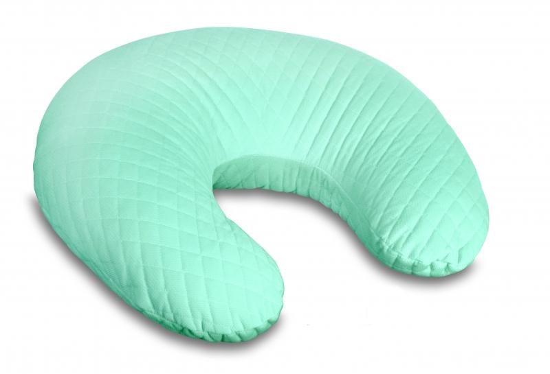 Kojící polštář/podkova - Velvet lux Miminu, prošívaný - mátový