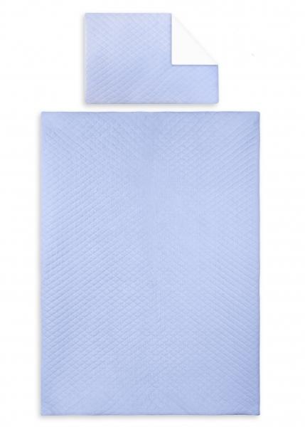 2-dílné povlečení Velvet lux Miminu, prošívané - modrá, 135x100 cm
