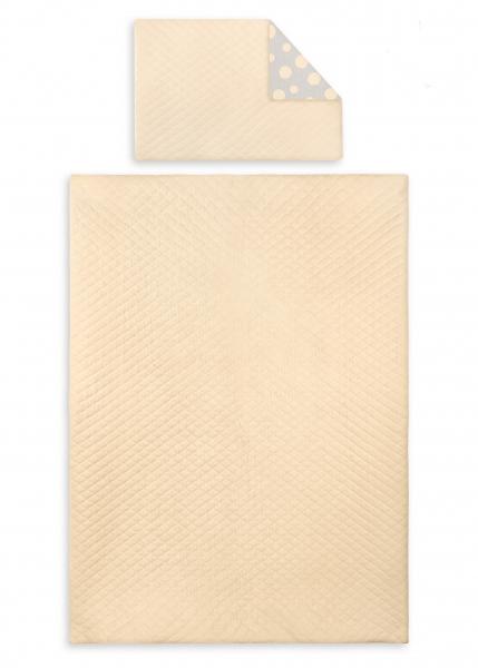 2-dílné povlečení Velvet lux Miminu, prošívané - meruňkové, 135x100 cm