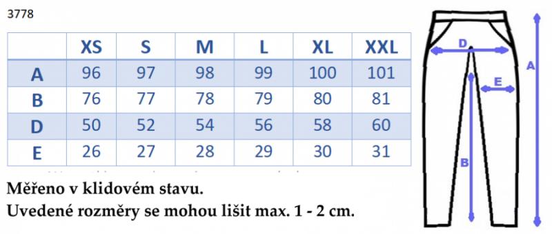 Be MaaMaa Moderní těhotenské tepláky s odnimatelným pásem - černé, vel. XXL