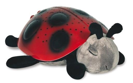 Noční lampička plyšová beruška červená
