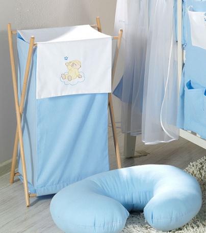 Luxusní praktický koš na prádlo - MRÁČEK modrý
