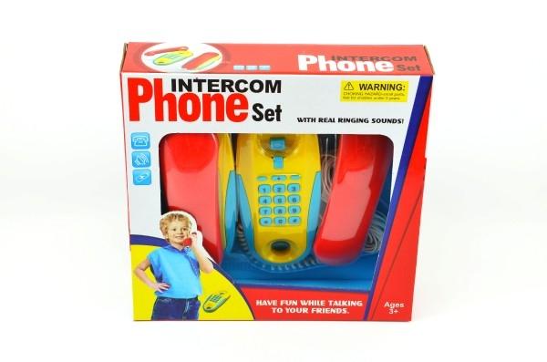Telefony pokoj - pokoj plast na baterie 2ks vzdálenost 7m v krabici 29x28x7cm