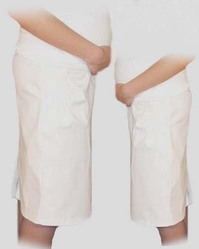 Be MaaMaa Těhotenská sportovní sukně s kapsami - bílá, vel. L