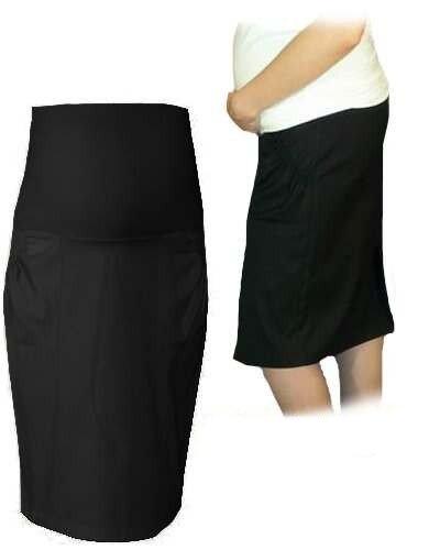 Be MaaMaa Těhotenská sportovní sukně s kapsami - černá