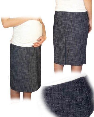 Be MaaMaa Těhotenská sportovní sukně s kapsami melírovaná - granát