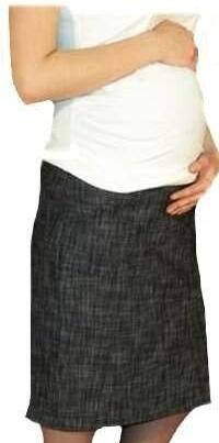 Be MaaMaa Těhotenská sportovní sukně s kapsami melírovaná - černá, vel. XXXL