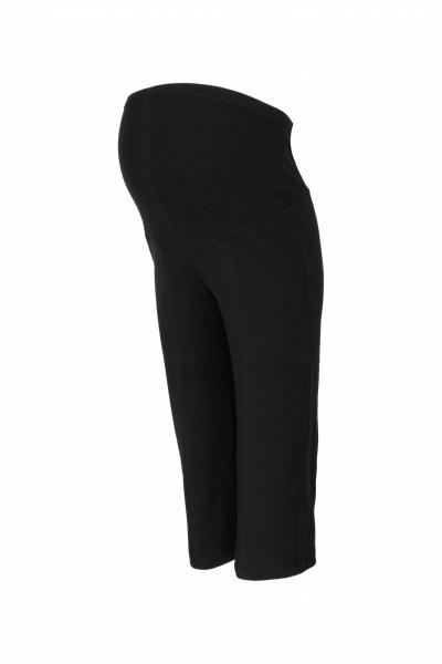 Be MaaMaa Těhotenské 3/4 tepláky s elastickým pásem - černé, vel. XXL, Velikost: XXL (44)