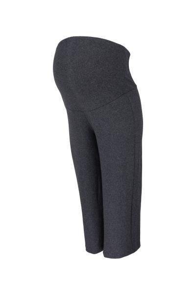 Be MaaMaa Těhotenské 3/4 tepláky s elastickým pásem - grafit, vel. XL