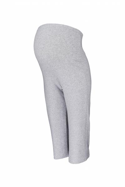 Be MaaMaa Těhotenské 3/4 tepláky s elastickým pásem - šedé