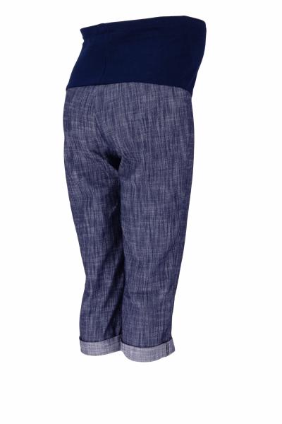 Be MaaMaa Těhotenské 3/4 kalhoty s elastickým pásem - bílé, vel. L