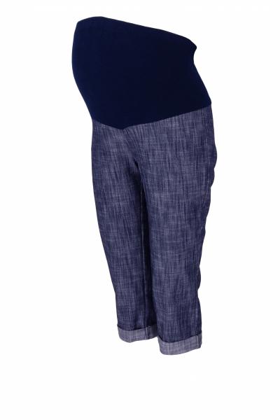 Be MaaMaa Těhotenské 3/4 kalhoty s elastickým pásem - granát/melírované