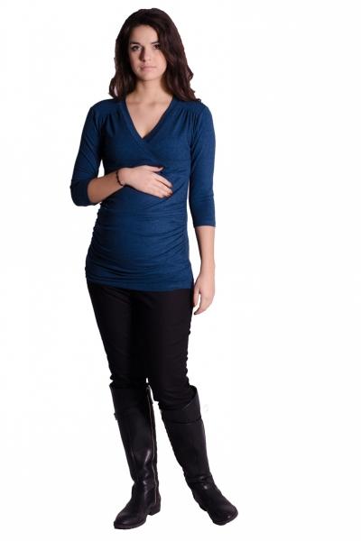 Be MaaMaa Těhotenské, kojící triko 3/4 rukáv - granát, vel. L/XL