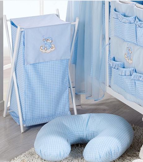 Luxusní praktický koš na prádlo - MRÁČEK modrý kostka