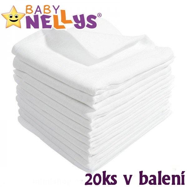 Kvalitní bavlněné pleny Baby Nellys - TETRA BASIC 70x80cm, 20ks v bal., K19