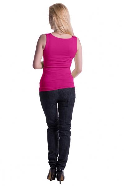 Be MaaMaa Těhotenské,kojící tilko s odnimatelnými ramínky - růžové, vel. L/XL