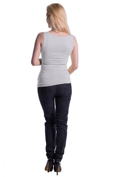 Be MaaMaa Těhotenské,kojící tilko s odnimatelnými ramínky - bílé