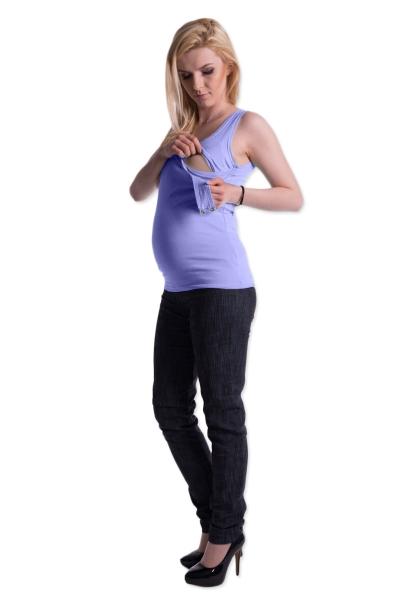 Be MaaMaa Těhotenské,kojící tilko s odnimatelnými ramínky - sv. modré