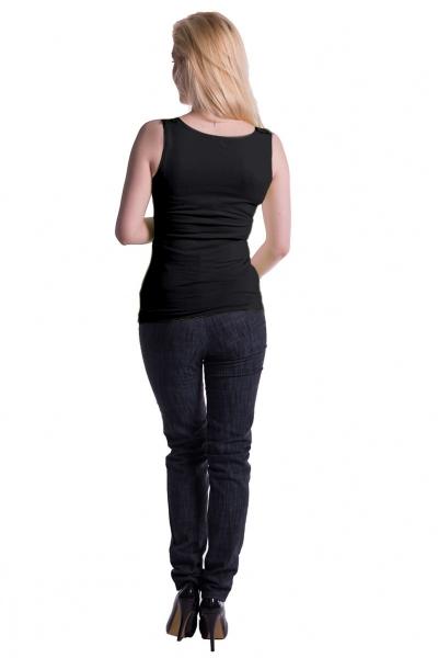 Be MaaMaa Těhotenské,kojící tilko s odnimatelnými ramínky - černé, L/XL