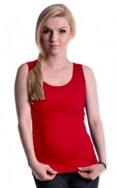 Be MaaMaa Těhotenské,kojící tilko s odnimatelnými ramínky - červené, vel. L/XL