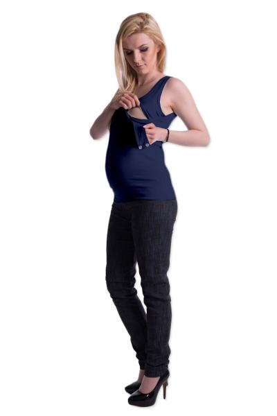 Be MaaMaa Těhotenské,kojící tilko s odnimatelnými ramínky - granátové