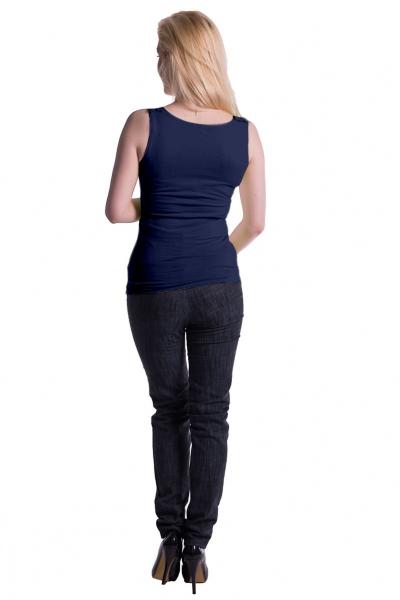 Be MaaMaa Těhotenské,kojící tilko s odnimatelnými ramínky - granátové, vel. L/XL