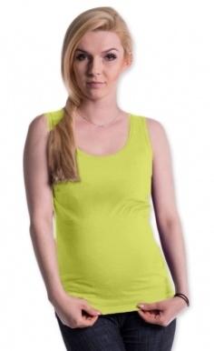 Be MaaMaa Těhotenské,kojící tilko s odnimatelnými ramínky - limetka, vel. L/XL, Velikost: L/XL