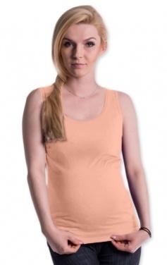 Be MaaMaa Těhotenské,kojící tilko s odnimatelnými ramínky - lososové