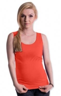 Be MaaMaa Těhotenské,kojící tilko s odnimatelnými ramínky - pomerančové, vel. L/XL
