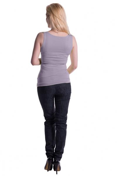 Be MaaMaa Těhotenské,kojící tilko s odnimatelnými ramínky - šedý melírek