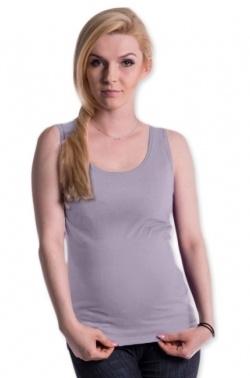 Be MaaMaa Těhotenské,kojící tilko s odnimatelnými ramínky - šedý melírek, vel. L/XL
