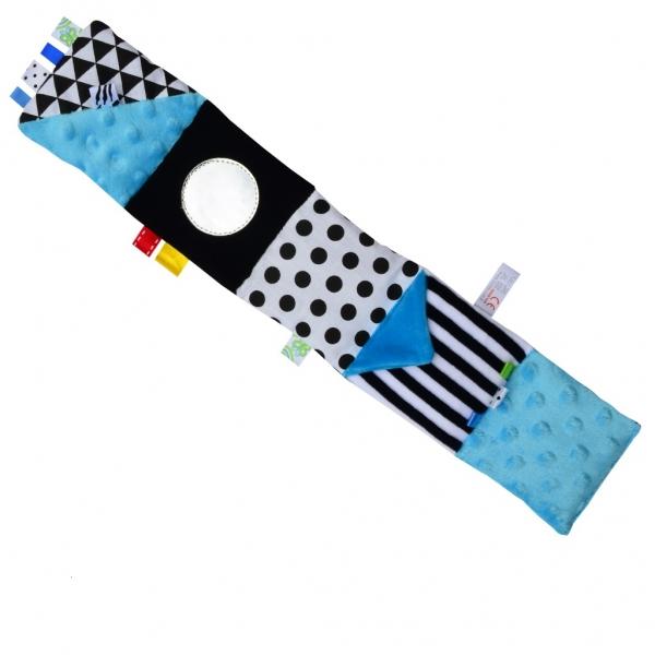 Mini textilní knížka - modrá