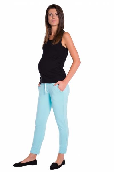 Be MaaMaa Těhotenské 3/4 kalhoty s odparátelným pásem - mátové, vel. L