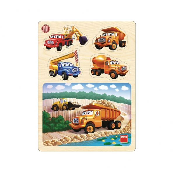Puzzle dřevěné Tatra 13 dílků