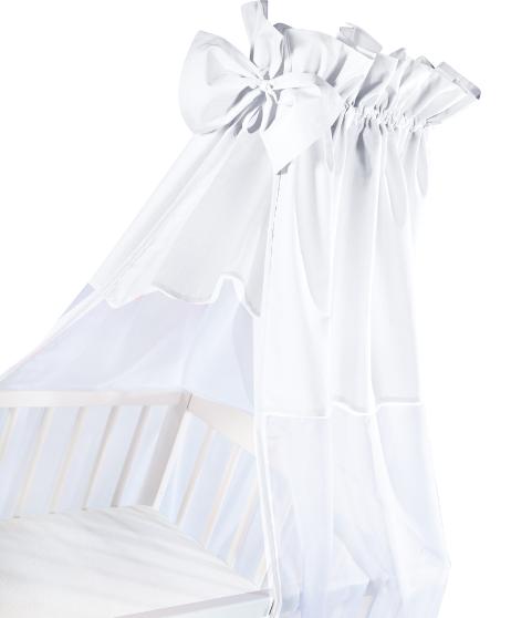 Luxusní nebesa 200 x 150 cm s mašličkou - bílá