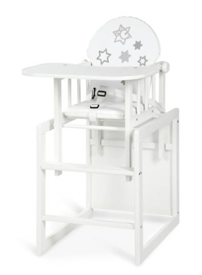 Jídelní židlička Anežka III Hvězdičky bílé
