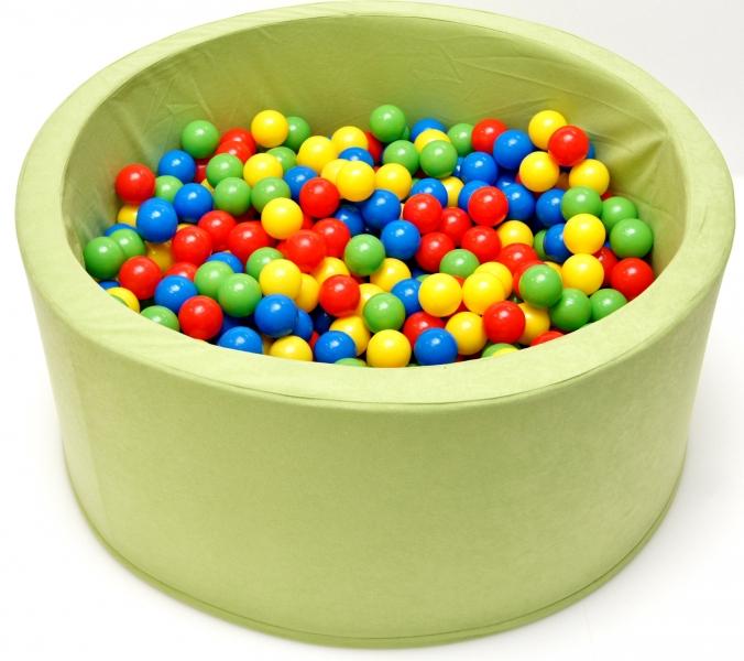 NELLYS Bazén, bazének pro děti 90x40cm kruhový tvar + 200 balónků - pistacie, Ce19