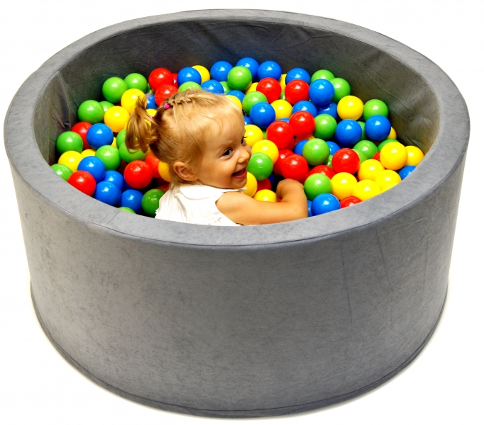 NELLYS Bazén pro děti 90x40cm kruhový tvar + 200 balónků - modrý