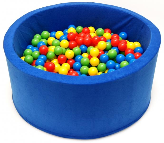NELLYS Bazén pro děti 90x40cm kruhový tvar + 200 balónků - modrý, Ce19