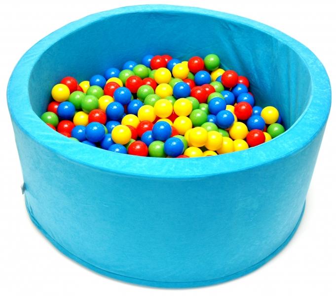 NELLYS Bazén pro děti 90x40cm kruhový tvar + 200 balónků. - tyrkys, Ce19