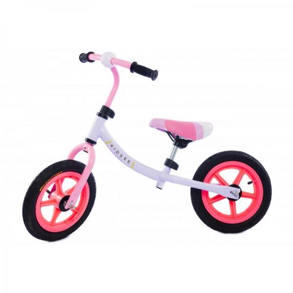 Kidsee Dětské odrážedlo - kolo - růžové
