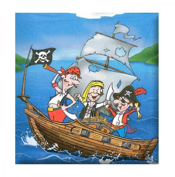 Rappa Ubrousek párty - pirát, 12 ks v sáčku
