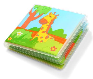 Měkká pískací knížka do vody - Wild Animals
