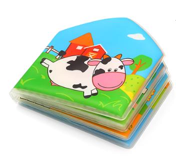 BabyOno Měkká pískací knížka do vody - Country Animals