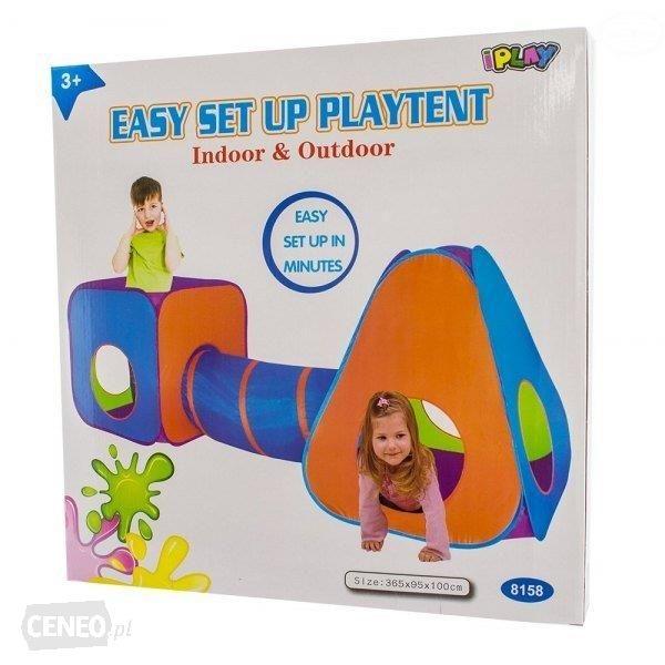 iPLAY Dětský stan s tunelem 3v1