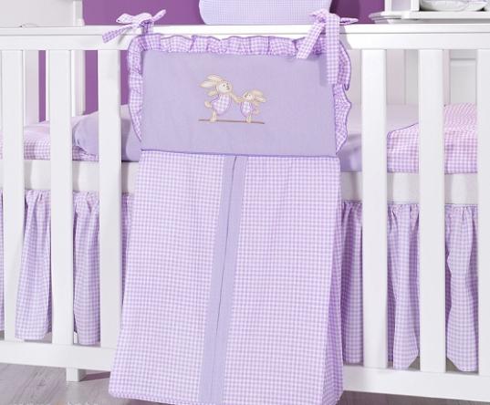 Luxusní kapsář na plenky - Zajíčci fialoví kr.