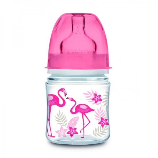 Canpol babies Antikoliková lahvička 120 ml Jungle - Plameňáci, 1 ks